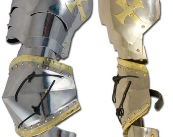 New pair of Medieval large pauldron Warrior stainless steel Armor Larp SH27