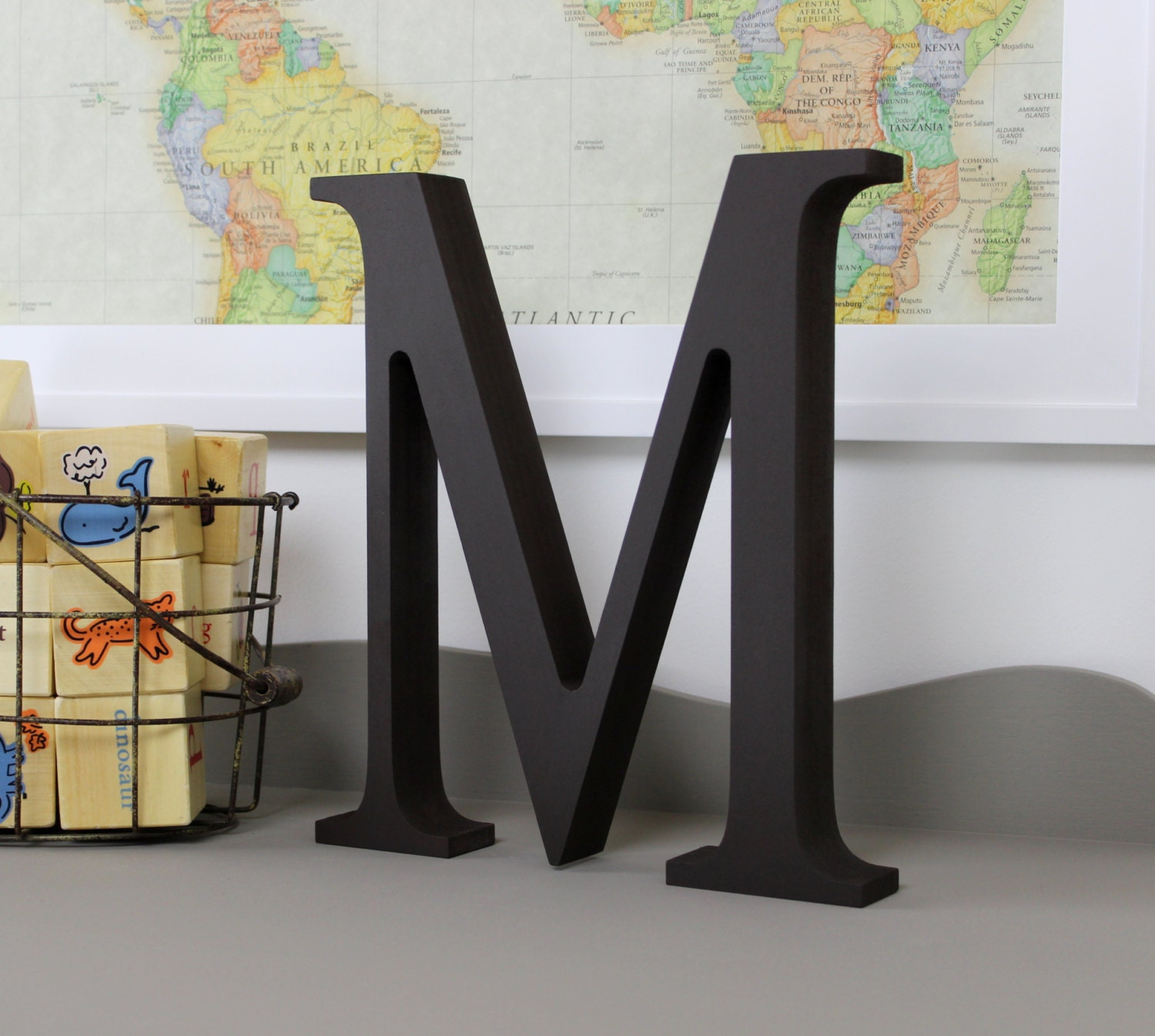 wooden letters alphabet decor letter m zoom