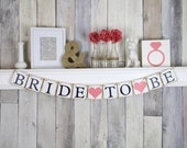 Bride To Be Banner - Bridal Shower Decorations - Bachelorette Party - Hens Party - Rustic
