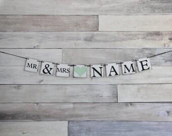 Wedding Banner Decoration - Mr and Mrs - Bachelorette Party - Custom Banner