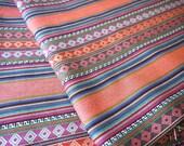 Aztec Fabric, Peruvian Fabric, Woven, Cusco Coral, 1 Yard