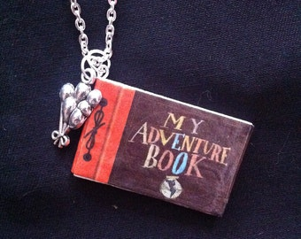 Adventure Mini Book Necklace With Charm