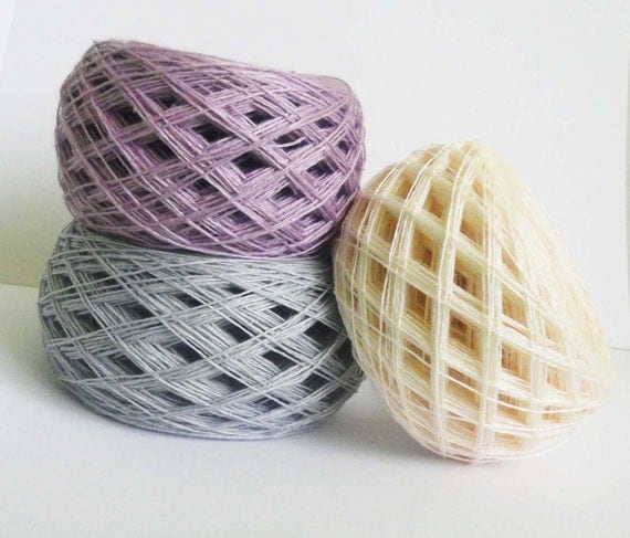 Lace Weight Yarn : Lace weight yarn, lace weight thread, linen yarn light grey, lilac ...