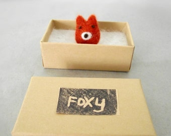 Foxy Needle Felted fox - Felt Animal Woodland Miniature