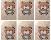 Teddy Bear Die cuts (set of 6)