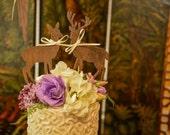 Deer-buck and doe-wedding cake topper-fall wedding-rustic wedding-deer lover-deer hunter-hunting groom-deer wedding-western wedding