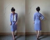butterfly cardigan skirt set/ stretchy knit acrylic/ sm
