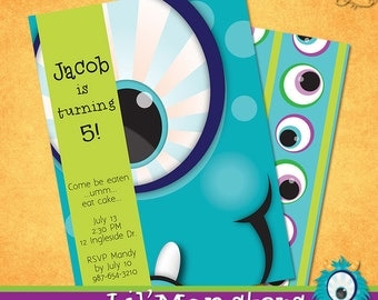 Lil' Monsters Invitation • PRINTABLE • Birthday • by The Occasional Day