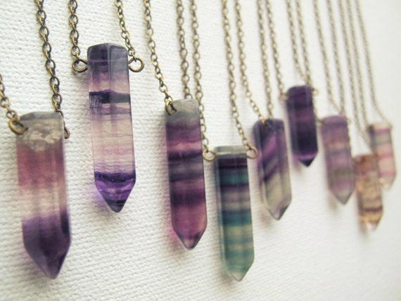 Rainbow fluorite necklace bohemian gemstone necklace boho like this item aloadofball Gallery