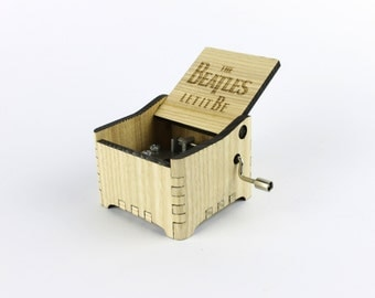 Let It Be - The Beatles + Your Engraving on the music box
