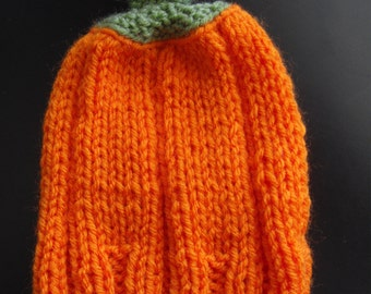 Knitted Pumpkin Hat - Newborn size