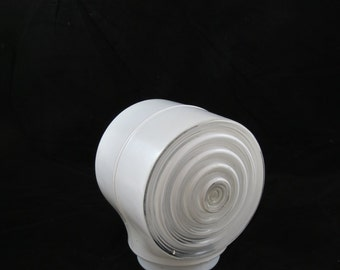 Vintage Glass Light Cover - Glass Light Fixture Shade - Retro Light Cover - Bathroom Light Cover - Porch Light Cover - Free Shipping