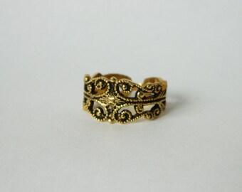 Brass Deco Ring