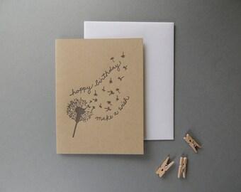 Birthday Dandelion card