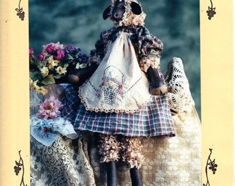 Penelope the Lamb Craft Doll Pattern - Fruitfull Hands -  Susan M. Backlund - Sewn, Tea Stained and Painted