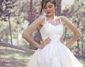 Dupioni Long Dress Ivory Wedding Dress Romantic Long Bridal Gown Princess Wedding Dress Boho Dress Handmade Vintage Gown by SuzannaM Designs