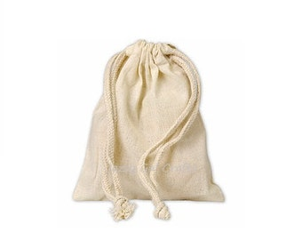 Muslin Drawstring Cloth Favor Bags (4x6)