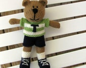 Personalized Custom Toy - Knitted Bear - Plush Toy - Child Toy - Stuffed Bear - Knitted Toy - Plush Bear - Stuffed Animal - Small Toy