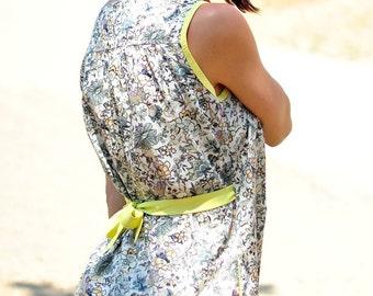 Liberty Print Dress, Mini Dress, Dress with Pockets, Floral Dress, Tunic Dress, Jumper Dress, Sun Dress, Summer Dresses, Made To Order