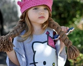 Princess Hat With  2 Braids - newborn-teen