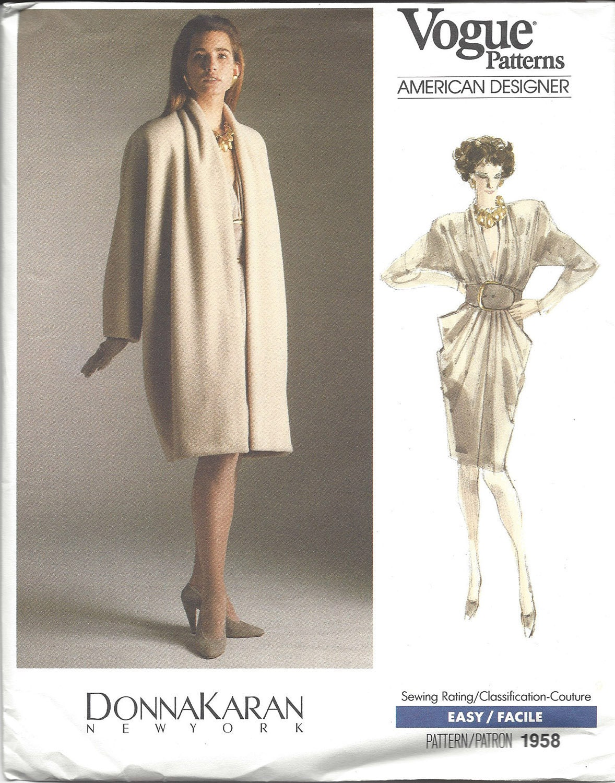 Vogue Patterns American Designer Donna Karan New York Vintage