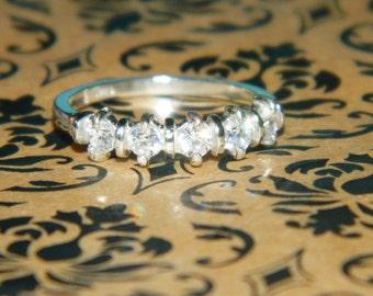 Anniversary Ring, Diamond Band, 5 Stone Band, Wedding Band, Bride Ring