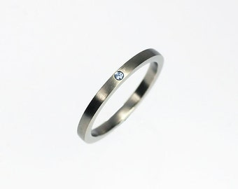 Light blue diamond wedding band, white gold wedding ring, blue diamond ring, unique diamond band, matte finish ring, simple, modern, custom