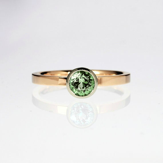 items similar to peridot engagement ring gold ring