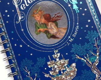 Peter Pan // Leatherbound // Recycled Journal Notebook