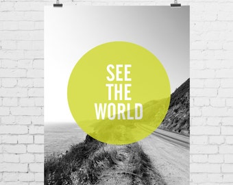 DIGITAL PRINT - See the World