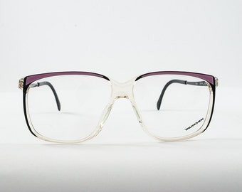Retro Hipster 90s Oversized Frames. Pink and Black.