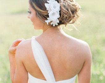 Bridal Flower Hair Comb. Bridal Flower Hair Accessory. Bridal Hair Piece.