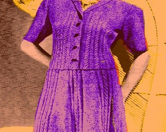 Almost FREE 1939 Ginger Pop Two-Piece Cable Dress Suit 105  PDF Digital Knit Pattern