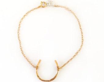 Gold Filled Horseshoe Bracelet