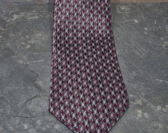 Geoffrey Beene Tie - Vintage Patterned Silk Necktie - Menswear Tie