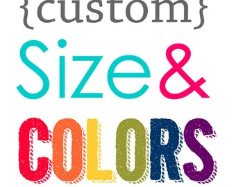Custom Color and Sizing Add-on