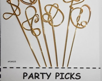 OOAK Martini Picks,Handcrafted Martini Olive Picks, Appetizer Picks, APO325