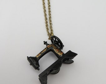 Miniature Sewing Machine Necklace