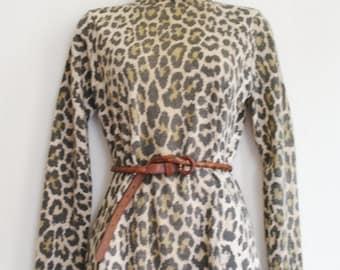 Vintage 80 leopard TOP