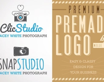 Premade Photography Logo Design Branding Watermark Premium Custom Logo Template