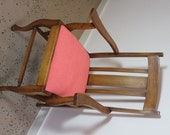Reserved for Michael: Edith and Jude Vintage Carver Chairs revived in Pink and Orange
