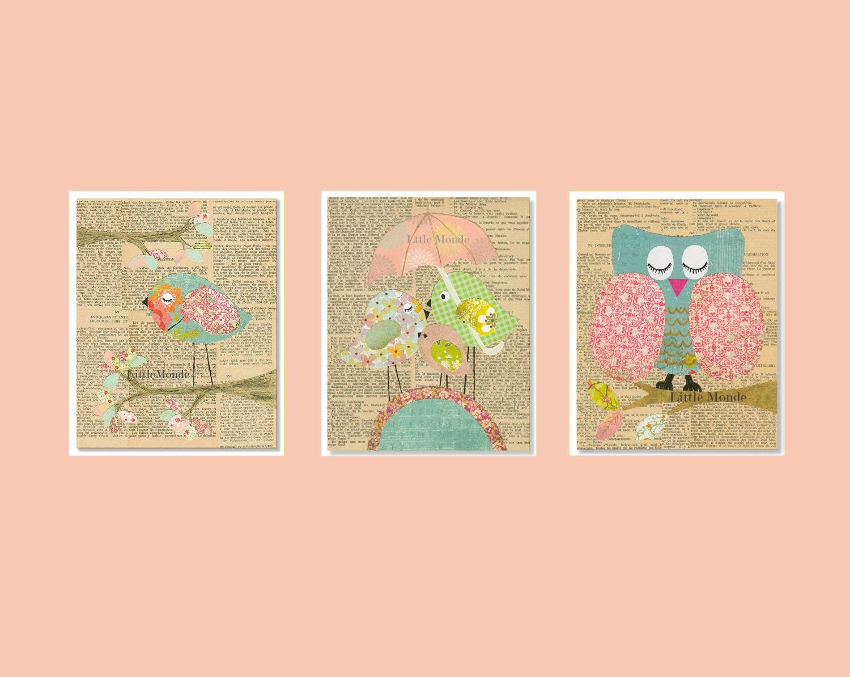 Baby girl nursery prints nursery art french nursery vintage for Baby girl nursery paintings