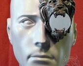 silver lion latex monocle prosthetic