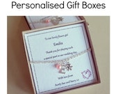 Personalised Gift Box, Jewellery Gift Box, Personalised Gift Box, Natural Gift Box, Recycled Gift Box,