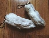 Lucky Rabbits Foot Keychain Ships Internationally