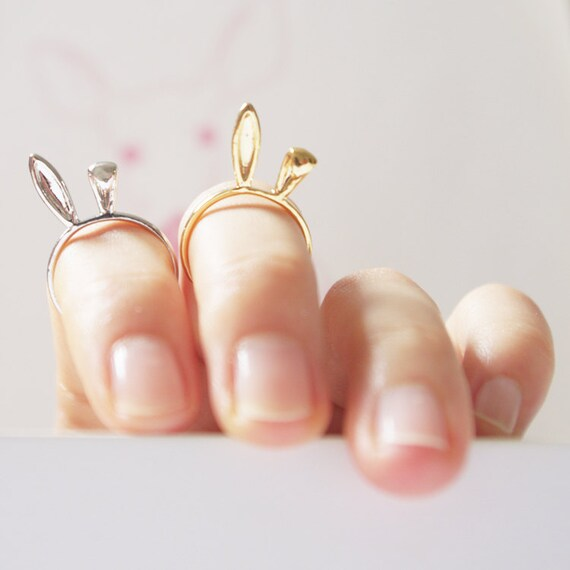 Gold/ Silver/ Pink Gold Bunny Ears knuckle Ring