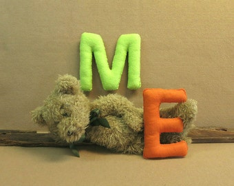 Alphabet Letters, Nursery Name Banner Letters, Felt Upper Case Letters For Educational Toys