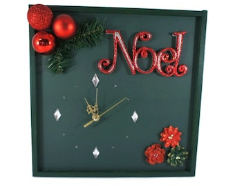 Christmas Decoration, Unique Wall Clock, Noel Decor, Christmas Gift, Nchanted Gifts Australia