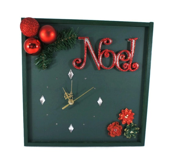 Cool Christmas Wall Decor : Christmas decoration unique wall clock noel decor
