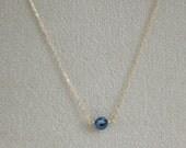 Delicate Sapphire Pendant...